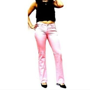 50% LA IDOL Women's Richcow Pink Boot Cut Jeans